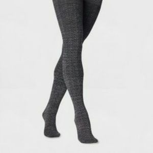 NWT Womens' Fleece Lined Tights Gray L/XL